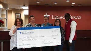 Legacy Texas check presentation